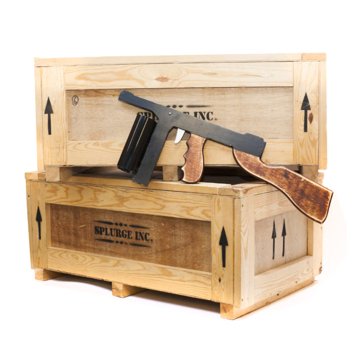 Bugsy Malone wooden crates. A great stage prop and a handy place to store your guns.