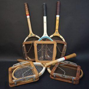 vintage tennis racket hire