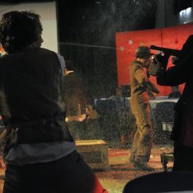 Bugsy Malone School Performance splurge fight